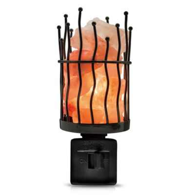 Himalayan Glow Wavy Pillar Salt Crystal Nightlight - Bed Bath & Beyond